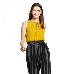 NWT Mossimo Top Sleeveless Blouse Shirt Large Gold